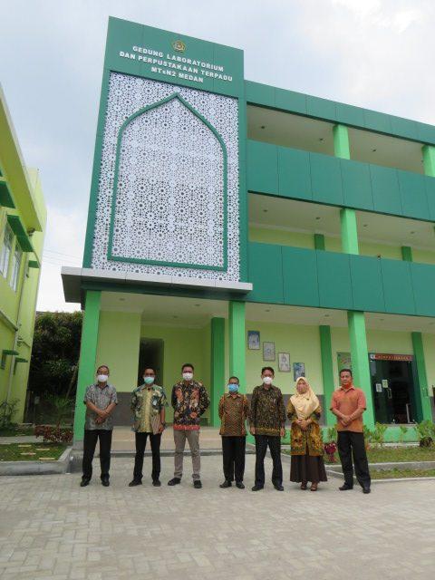 Itjen Kemenag RI Tinjau Pembangunan Gedung Laboratorium Dan Perpustakaan Terpadu MTsN 2 Medan