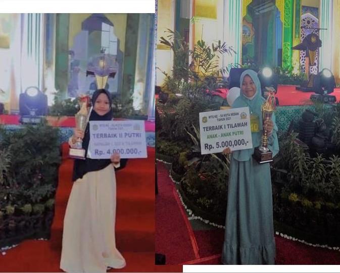 Siswi MTsN 2 Medan Raih Juara Pada MTQ Kota Medan Tahun 2021