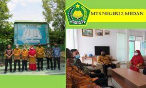Kabid Penmad Tinjau Persiapan PTM di MTsN 2 Medan